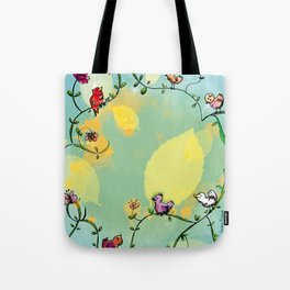 Three little birds Pitch by my door step Tote Bag