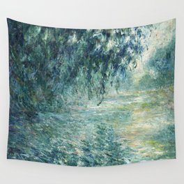 1898-Claude Monet-Morning on the Seine- 73 x 91 Wall Tapestry