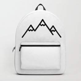 Snowy Mountains Logo Backpack