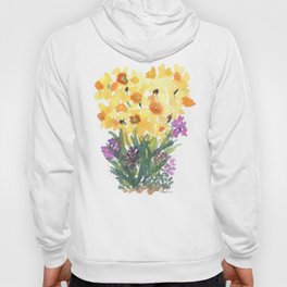 Spring Daffodil Patch Hoody