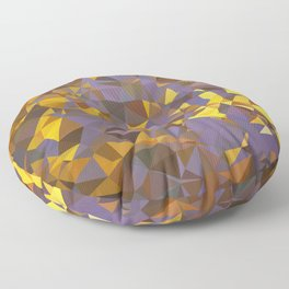 Purple Gold Low Poly Geometric Art Floor Pillow