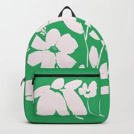 Green and White Flower Bouquet, Minimal Flowers, Simple Flower Design, Modern Daisy Flower Backpack