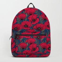 Night poppy garden  Backpack