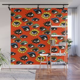 60s Eye Pattern Wall Mural