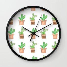 Cactus Print Wall Clock