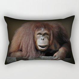 Indah - Sumatran Orangutan Rectangular Pillow