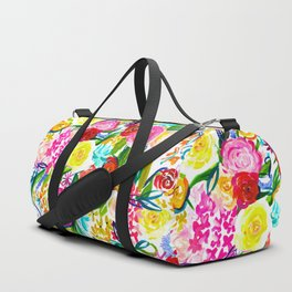 Neon Summer Floral (Smaller Print size) Duffle Bag