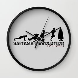 Saitama's Evolution Wall Clock