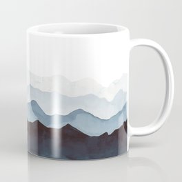 Indigo Mountains Landscape Coffee Mug