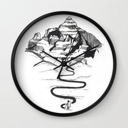 Cathedral peak Wall Clock
