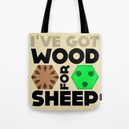 Wood for Sheep (Catan series) Tote Bag
