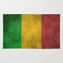 Old and Worn Distressed Vintage Flag of Mali Rug