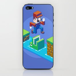 Isometric Mario pixel art iPhone Skin