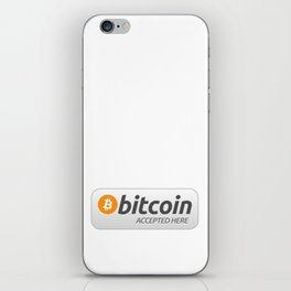 Accepted here: Bitcoin iPhone Skin
