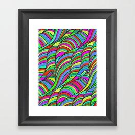 waves of colors  Framed Art Print