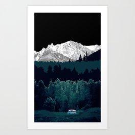 Under the Mountain  Art Print