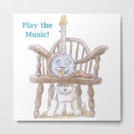 Play the Music! Metal Print