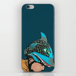 The Shark Helmet iPhone Skin