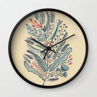 leaf Wall Clocks featuring Turning Over A New Leaf by Monica Gifford