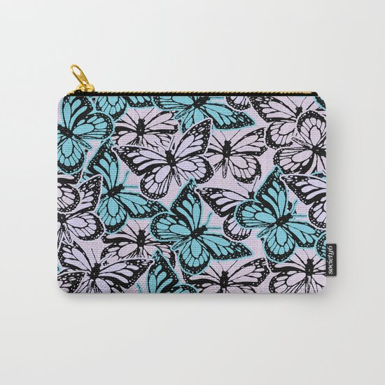 Vintage Butterflies Carry-All Pouch