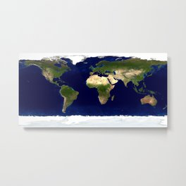 Earth's map Metal Print