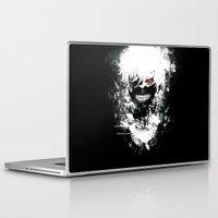 tokyo ghoul Laptop & iPad Skins featuring Kaneki Tokyo Ghoul by Prince Of Darkness