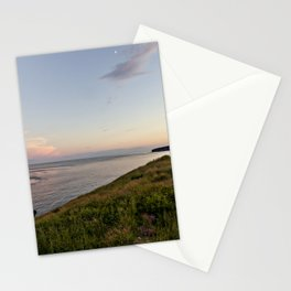 twilight at the sea Stationery Cards