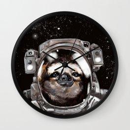Astronaut Sloth Selfie Wall Clock
