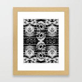 Freak Skull Pattern Framed Art Print