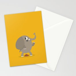Elephant poop Stationery Cards