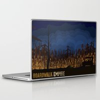 boardwalk empire Laptop & iPad Skins featuring boardwalk empire by christopher-james robert warrington
