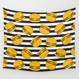Burger Stripes By Everett Co Wall Tapestry