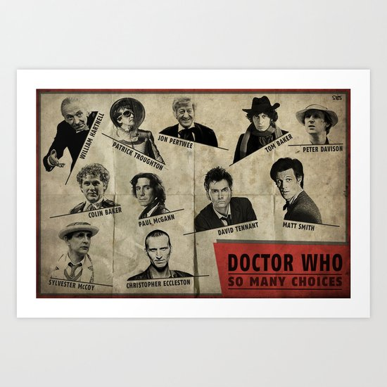So Many Choices (Doctor Who) Art Print