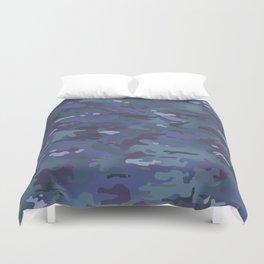 Camouflage: Deep Blue Duvet Cover