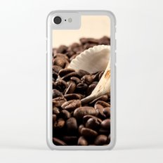 Shell on coffee Clear iPhone Case