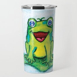 Happy Frog - Watercolor Travel Mug