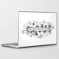 oscar wilde Laptop & iPad Skins featuring Oscar Wilde flowers by Narts and Crafts
