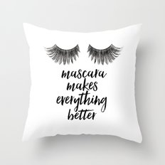 Mascara Quotes Classy Mascara And Quote Throw Pillows  Society6