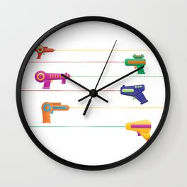 Pew Pew Laser Guns Wall Clock