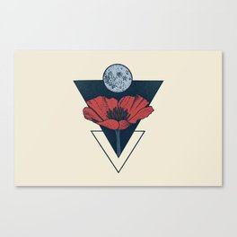 Moon Blossom Canvas Print