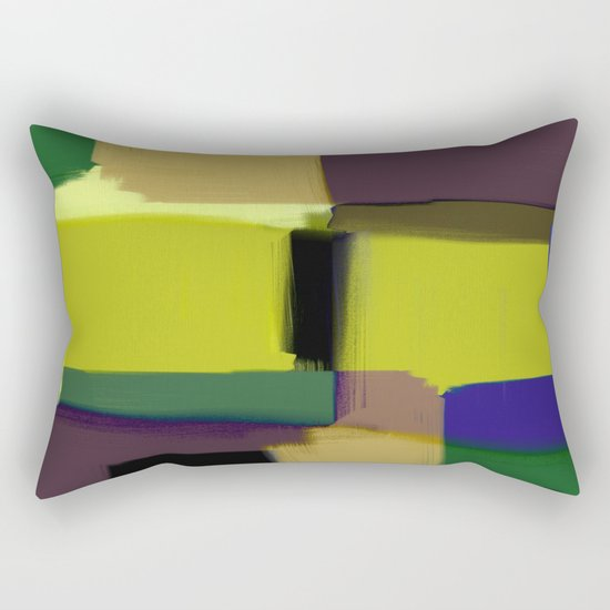 Simply Abstract X - Abstract, oil painting, pastel colours Rectangular Pillow