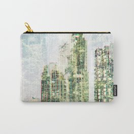Cityscape and forest Carry-All Pouch