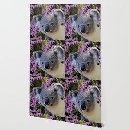 Koala and Orchids Wallpaper