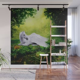 Pegasus By The Stream Wall Mural