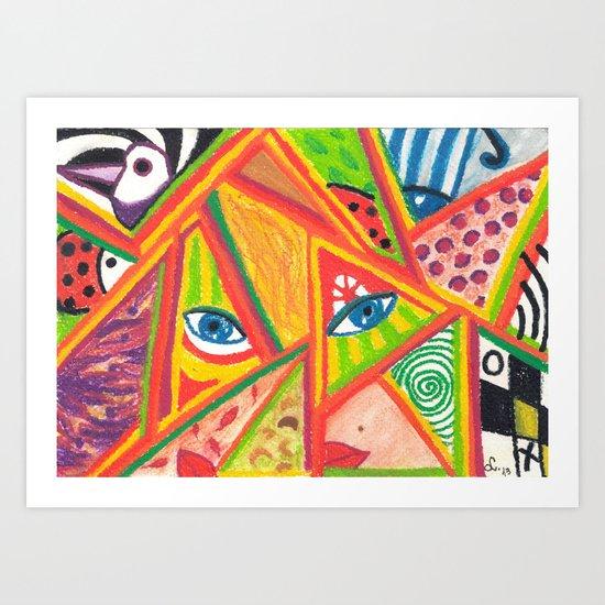 Woman in love Art Print