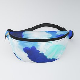 Bold Blue Abstract Watercolor Fanny Pack