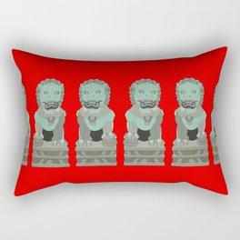 Lion Statues Rectangular Pillow