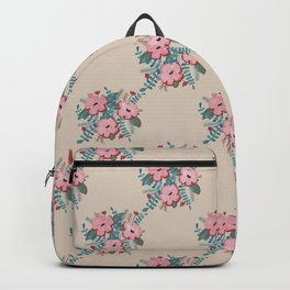 Vintage Flowers | Gouache | Shabby Floral  Backpack