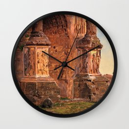 Frederic Edwin Church - Arch Of Septimius Severus, Rome - Digital Remastered Edition Wall Clock
