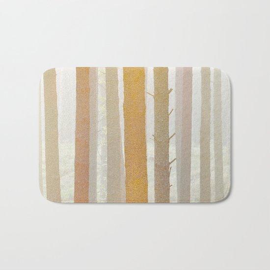 Golden Winter Forest 2 Bath Mat
